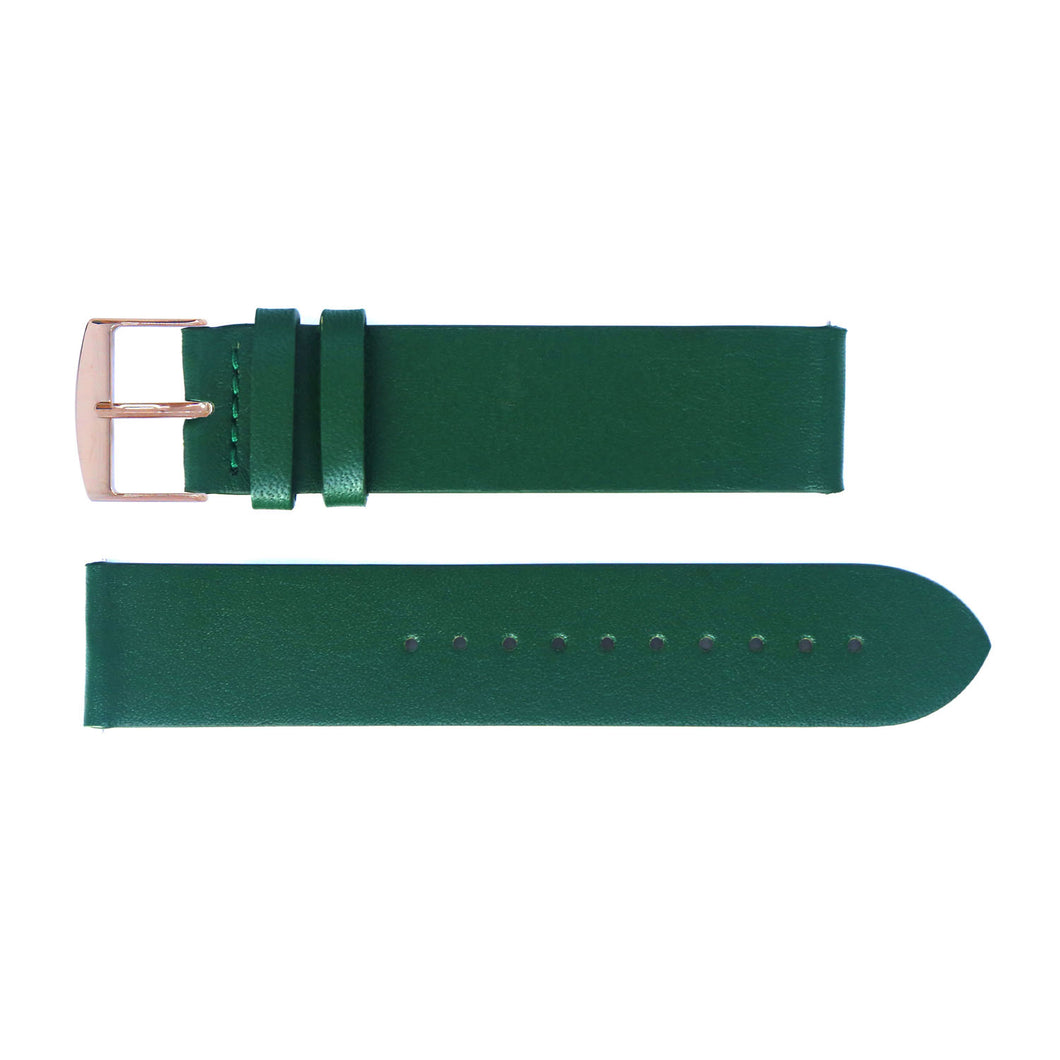 Watch strap green leather | Gustave & cie
