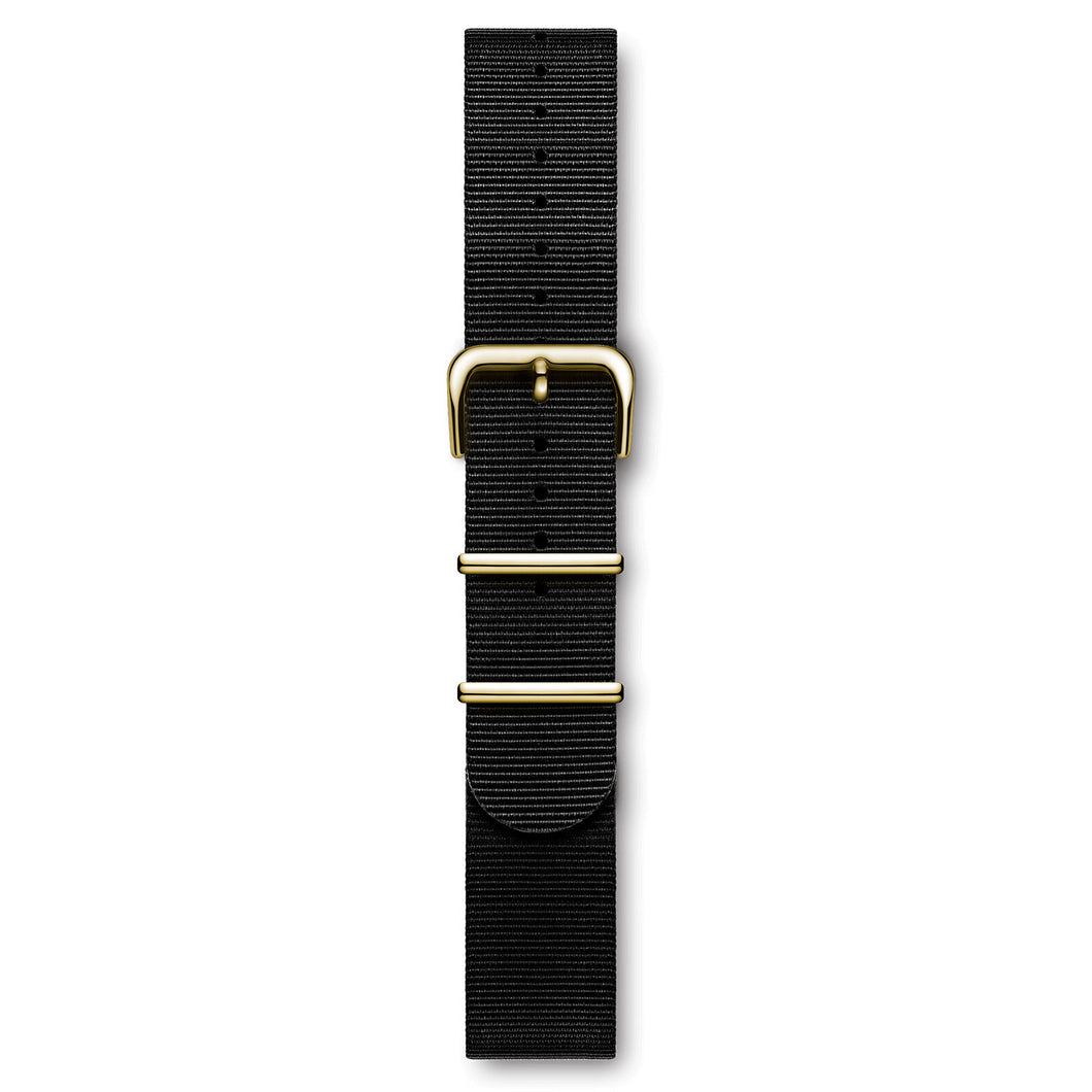 Nylon Nato Strap Black Yellow Buckle | Björn Hendal