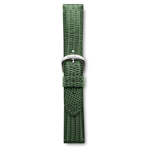 Italian Leather Strap Lizard Green Steel Buckle | Björn Hendal