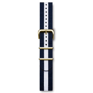 Nato Strap Blue And White Yellow Buckles | Björn Hendal