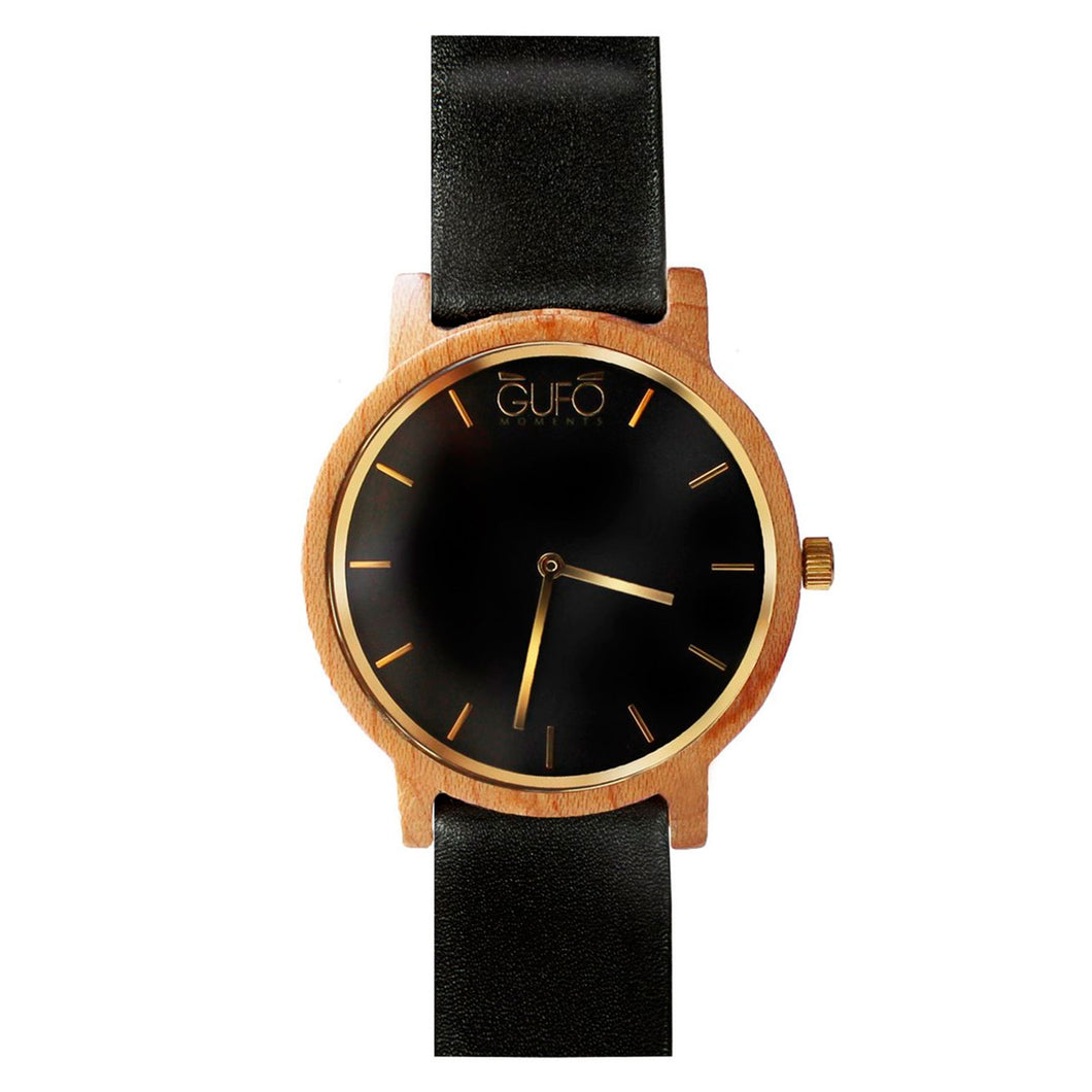 Gufo Black Moments Leather Black