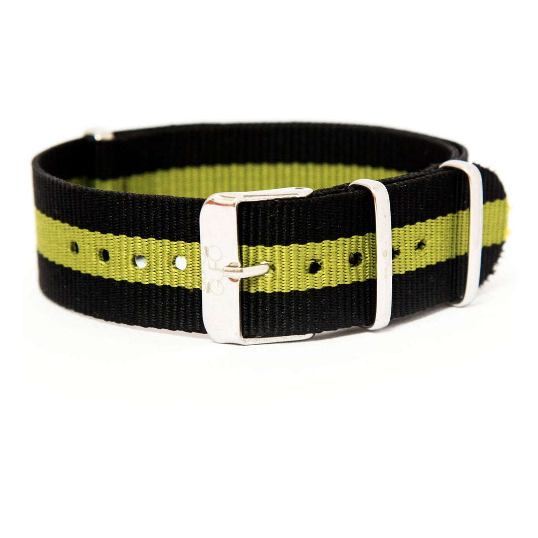 Leisure Black Green Strap | Gufo