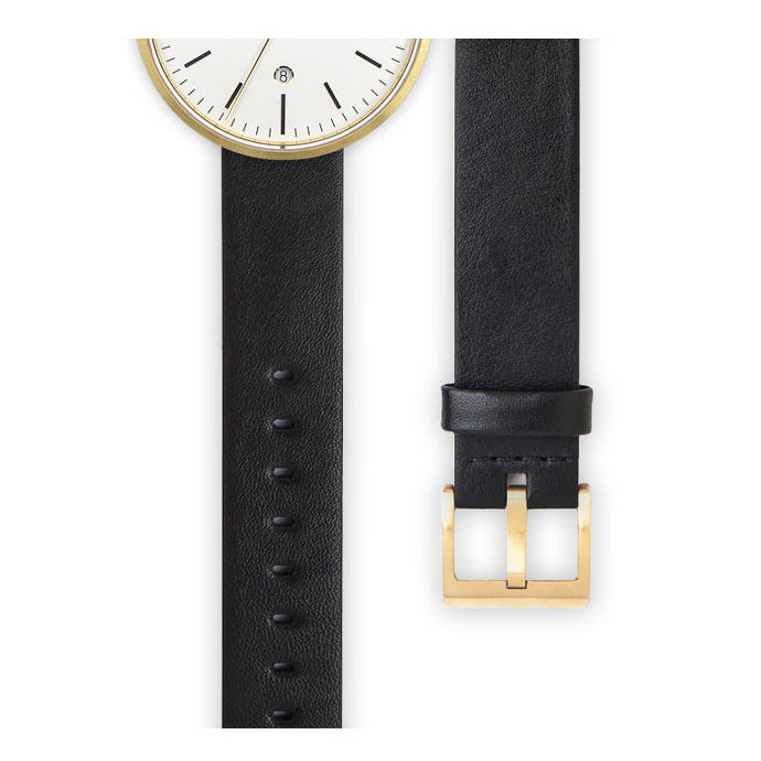 Black nappa calf leather watch strap | Ackurat