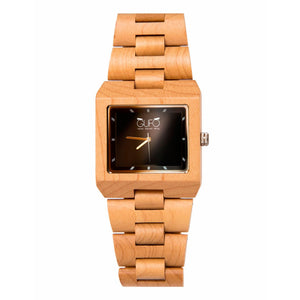 Gufo Black Stone Wrist Wooden Watch