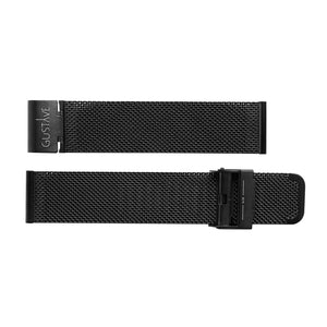 Watch strap black milanese metal | Gustave & cie