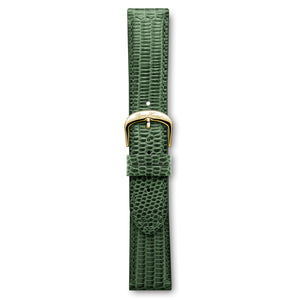 Italian Leather Strap Lizard Green Yellow Buckle | Björn Hendal