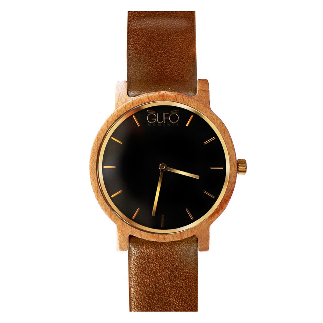 Gufo Black Moments Leather Dark Brown