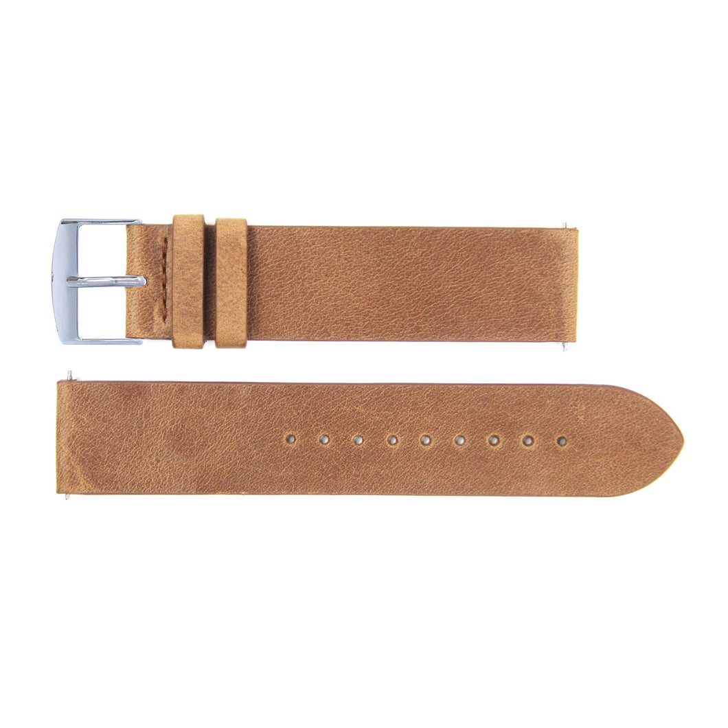 Watch strap brown leather | Gustave & cie
