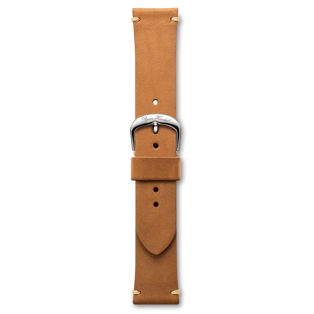 Handmade Italian Leather Strap Brown Steel Buckle | Björn Hendal