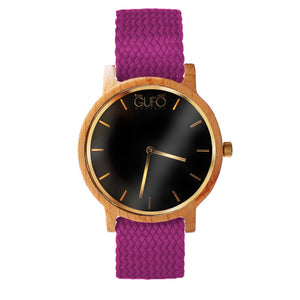 Gufo Black Moments Braided Violet