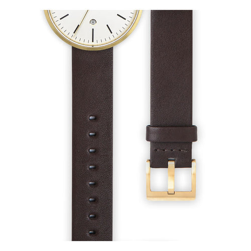 Brown nappa calf leather watch strap | Ackurat