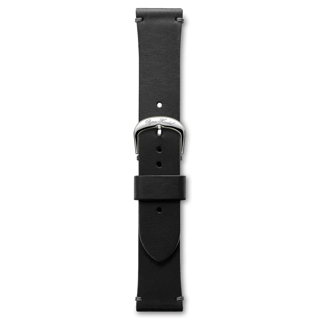 Handmade Italian Leather Strap Black Steel Buckle | Björn Hendal