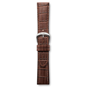 Italian Leather Strap Brown Croco Steel Buckle | Björn Hendal