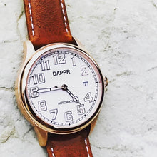 Load image into Gallery viewer, Dappr Vintage Pilot Automatic - Rose Gold