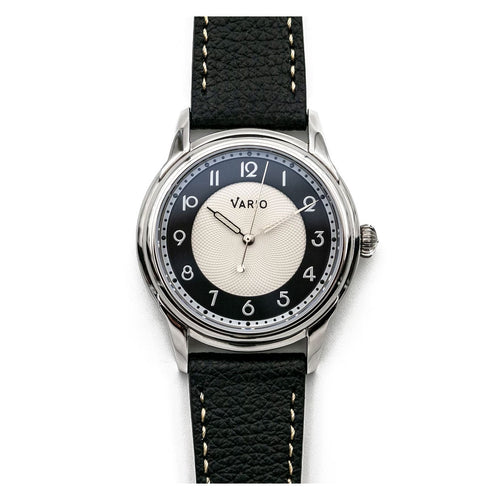 Vario Empire White Tuxedo Handwound Dress Watch