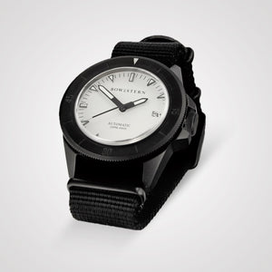 Bow & Stern ABYSS Automatic Dive Watch - Matte Black Case (Black NATO)