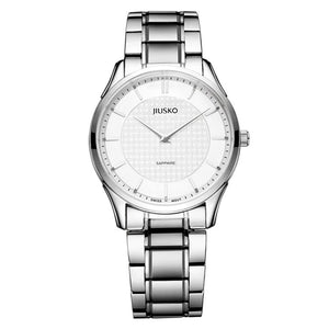 Jiusko Mens, Dress, Quartz, Tungsten, 50M, 325LAU1WYW