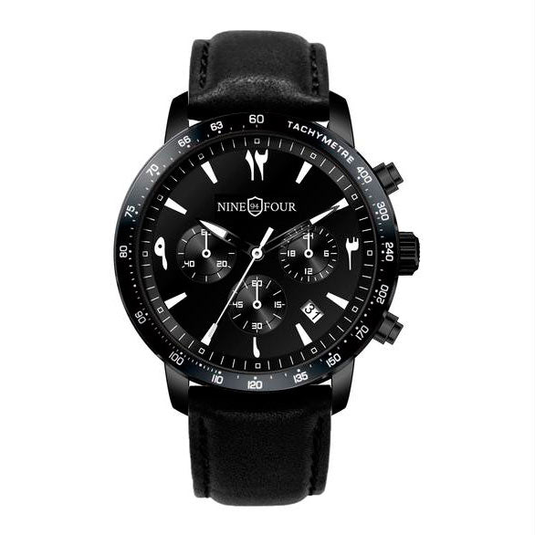 Nine Four Culture Chronograph Arabic - Black/White
