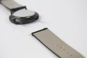 Watch strap black leather | Gustave & cie