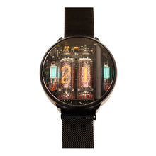 Load image into Gallery viewer, NIWA Nixie Watch 2.0 Titanium with wireless charge - Black