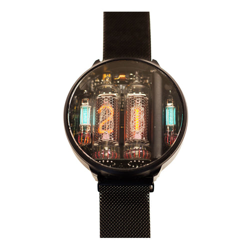 NIWA Nixie Watch 2.0 Titanium with wireless charge - Black
