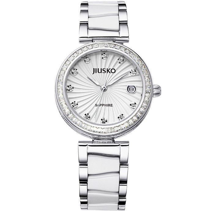 Jiusko Women's, Dress, Ceramic, Stainless-Steel, Quartz, 50M, 41MY01