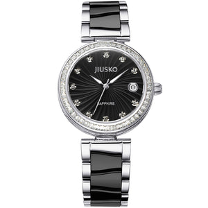 Jiusko Women's, Dress, Ceramic, Stainless-Steel, Quartz, 50M, 41MB02
