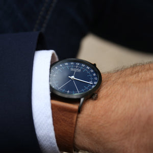 Gustave Montre 24H Blue - Black Milan