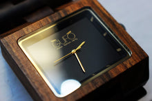 Load image into Gallery viewer, Gufo Dark Black Stone Wooden Watch