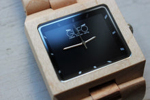 Load image into Gallery viewer, Gufo Black Stone Wrist Wooden Watch