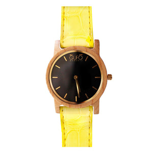Gufo Black Moments Croco Yellow