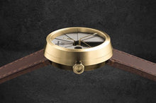 Load image into Gallery viewer, 22Studio 4D Concrete Watch Automatic Minimal Edition Brass Look