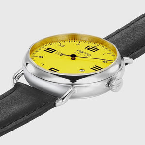 Ferro & Company One Hand Watch Yellow Dial Quartz