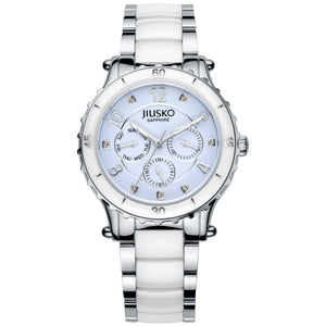 Jiusko Women's, Dress, Ceramic, Stainless-Steel,Quartz, 50M, 83LSY01
