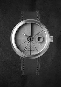 22Studio 4D Concrete Watch Automatic Minimal Edition Stainless Steel Look