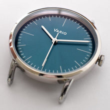 Load image into Gallery viewer, Vario Eclipse Emerald Green Sweeping Quartz Dress Watch on ZRC Alligator Grain Watch Strap