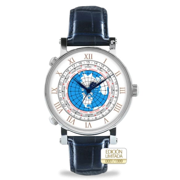 Colomer & Sons Worldtimer Silver