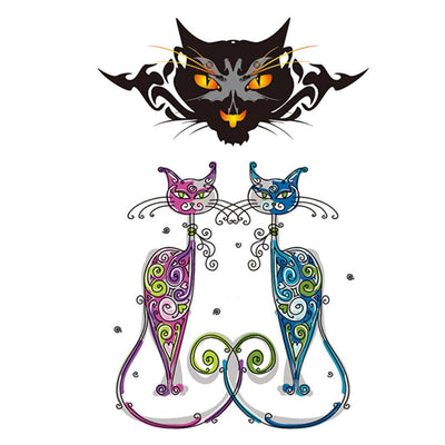 Pop Cat animaux FIT ME TATTOO Fit Me Tattoo, tatouage éphémère, tatouage temporaire