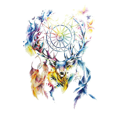 Cerf Dream-catcher animaux FIT ME TATTOO Fit Me Tattoo, tatouage éphémère, tatouage temporaire