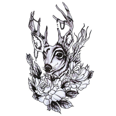 Cerf Nature animaux FIT ME TATTOO Fit Me Tattoo, tatouage éphémère, tatouage temporaire