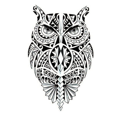 Hibou Maori voyage FIT ME TATTOO Fit Me Tattoo, tatouage éphémère, tatouage temporaire