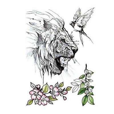 Lion Minimal animaux FIT ME TATTOO Fit Me Tattoo, tatouage éphémère, tatouage temporaire