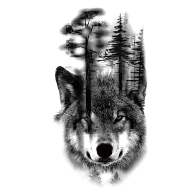 Forest Wolf animaux FIT ME TATTOO Fit Me Tattoo, tatouage éphémère, tatouage temporaire