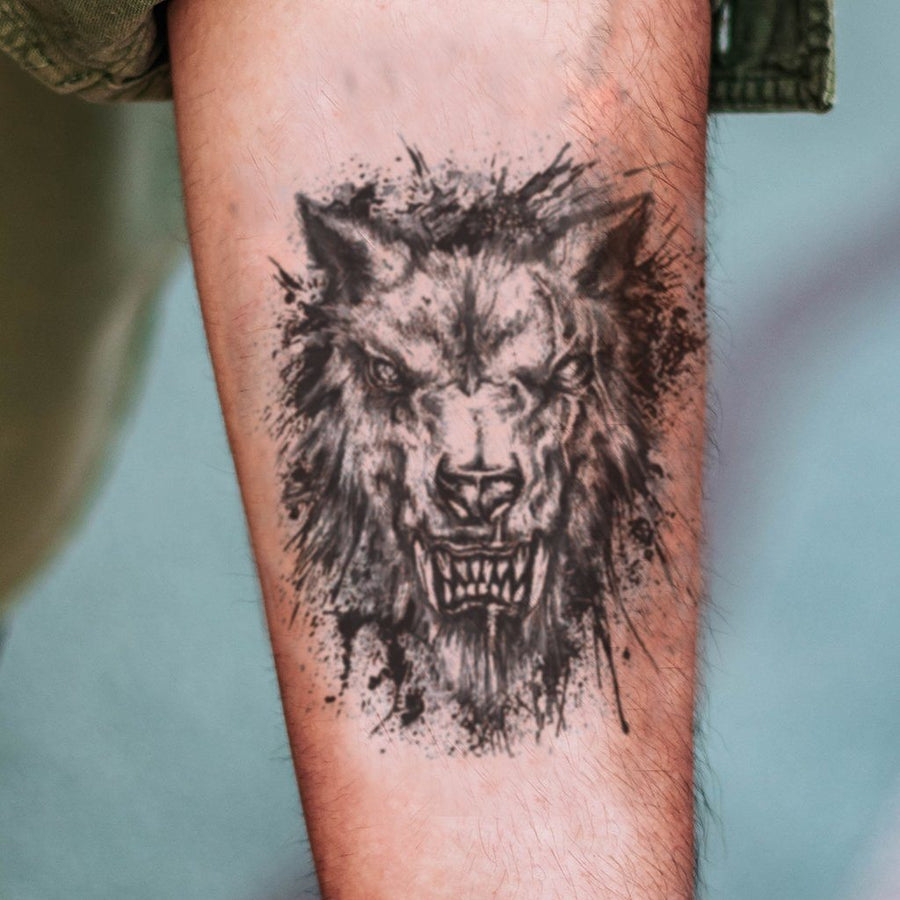 Loup Garou animaux FIT ME TATTOO Fit Me Tattoo, tatouage éphémère, tatouage temporaire