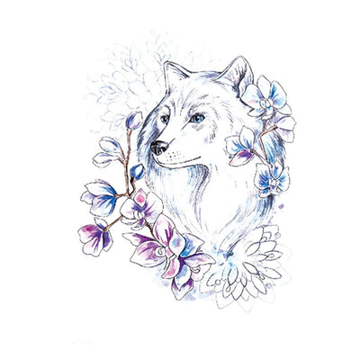 Loup Minimal animaux FIT ME TATTOO Fit Me Tattoo, tatouage éphémère, tatouage temporaire