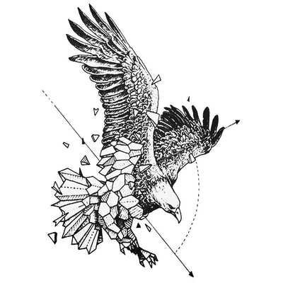 Aigle Graphique animaux FIT ME TATTOO Fit Me Tattoo, tatouage éphémère, tatouage temporaire