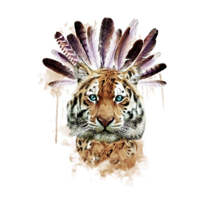 Tigre Indien animaux FIT ME TATTOO Fit Me Tattoo, tatouage éphémère, tatouage temporaire