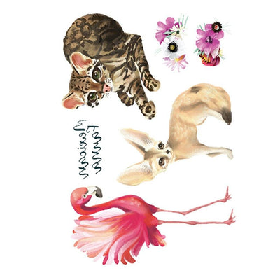 Ocelots & Flamant Rose animaux FIT ME TATTOO Fit Me Tattoo, tatouage éphémère, tatouage temporaire