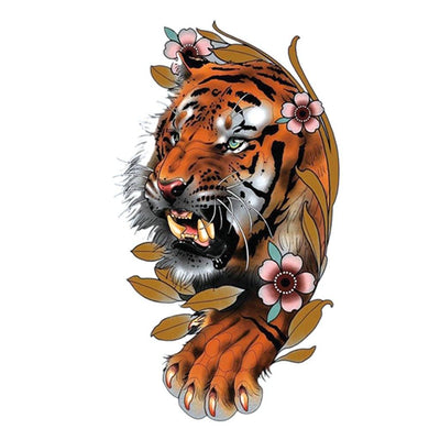 Tigre Feuille animaux FIT ME TATTOO Fit Me Tattoo, tatouage éphémère, tatouage temporaire
