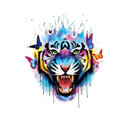 Tigre Néon animaux FIT ME TATTOO Fit Me Tattoo, tatouage éphémère, tatouage temporaire
